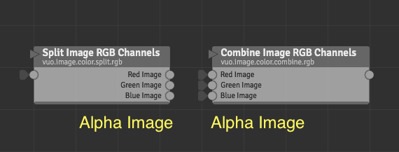 Ability to split and combine alpha channel | Vuo