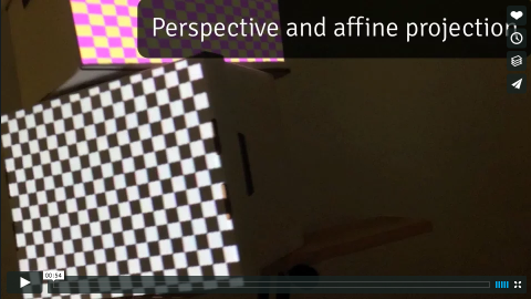 Screenshot of a projection mapping demo video