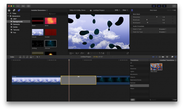 A Vuo plugin in Final Cut Pro