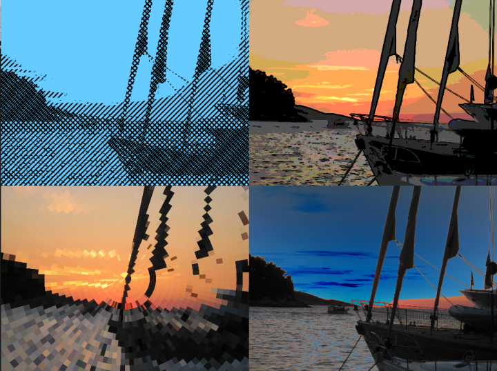 A demonstration of a few of Vuo 1.2.6's new image filters