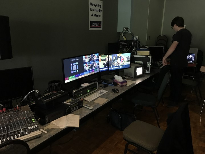 Control room for graphics system