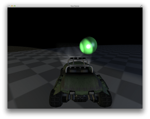 Screenshot of driving gallery composition