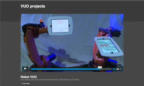 A video of jens probst's experimentation with robot control