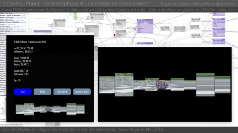Screenshot of the Vuo composition source and output for L'Oeil du Prince