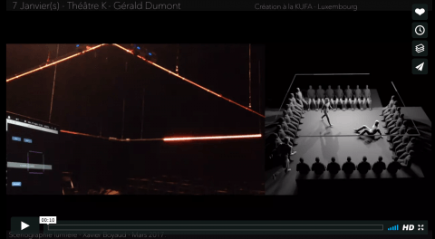 Video demonstrating the software controlling Ombres Projeteés