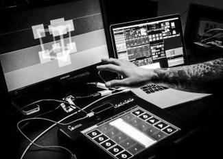 Photo of Anthony's VJ setup for Sónar