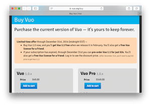 Screenshot of vuo.org