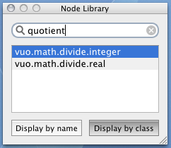 Screenshot demonstrating node search
