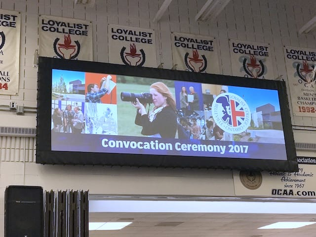 Screen of convocation graphics system